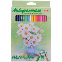 Акварельные карандаши Hatber Water colour 18 цв.