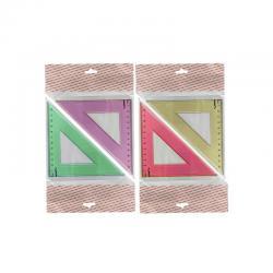 треугольник (прозрачный , пластиковый ) 12см