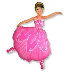 Шар фольга фигура Балерина