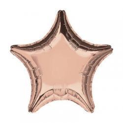 Звезда розовый гламур- шар 45см с гелием