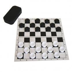 Настольная игра Шашки с полем (доской)