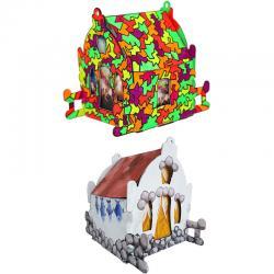 Конструктор - раскраска домик