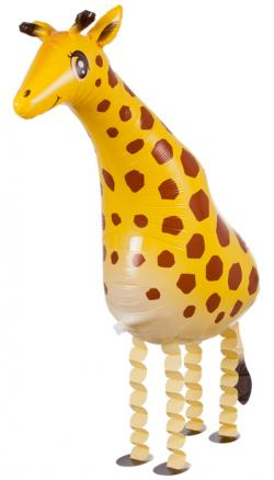 Шар фольга ходячая фигура Жираф 58см