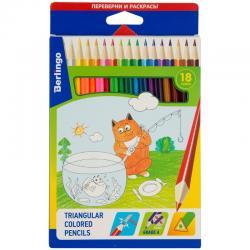 Цветные карандаши Berlingo трёхгран. 18 цв.