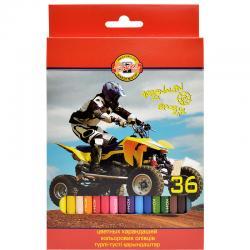 Цветные карандаши KOH-I-NOOR sports 36 цв.
