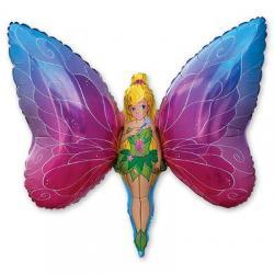 Шар фольга фигура Фея бабочка