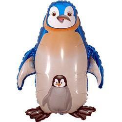 Шар фольга фигура Пингвин,99см