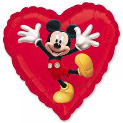 Шар фольга фигура Сердце 45 см