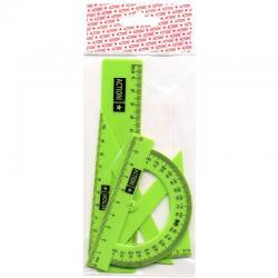 Набор для черчения 4предмета (Флюоресцентный пластик )