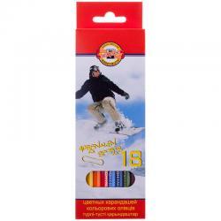 Цветные карандаши KOH-I-NOOR sports 18 цв.