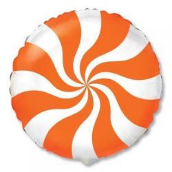 Шар фольга Леденец оранжевый, 45 см