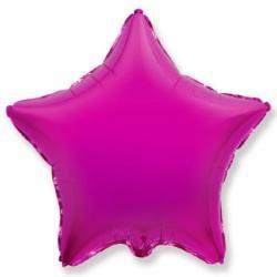 Звезда пурпурная - шар 45см с гелием