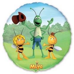Шар фольга Пчелка Майя с друзьями, 45 см