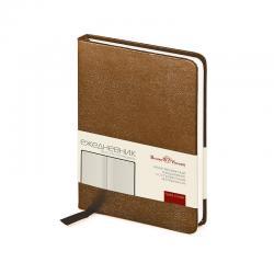 Ежедневник  недатированный А6 200стр, коричневый