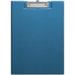 Папка планшет с зажимом ПВХ синяя