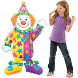 Шар фольга фигура ходячая Клоун, 111см