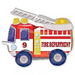 Шар фольга фигура ходячая Пожарная машина 60 см х 48 см