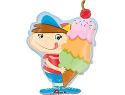 Шар фольга фигура Мальчик с мороженным,100см