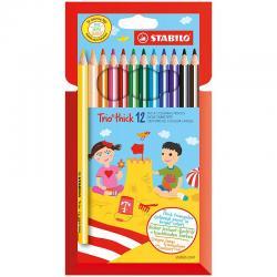 Цветные карандаши STABILO трёхгран. 12 цв.