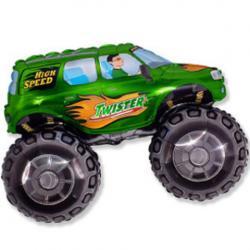 Шар фольга фигура Джип зеленый, 51х73см