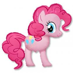 Шар фольга фигура Пони Радуга розовая