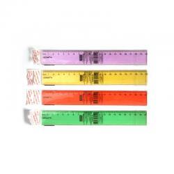 линейка школьная (Флюоресцентный прозрачный пластик)20см
