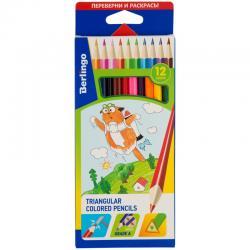 Цветные карандаши Berlingo трёхгран. 12 цв.
